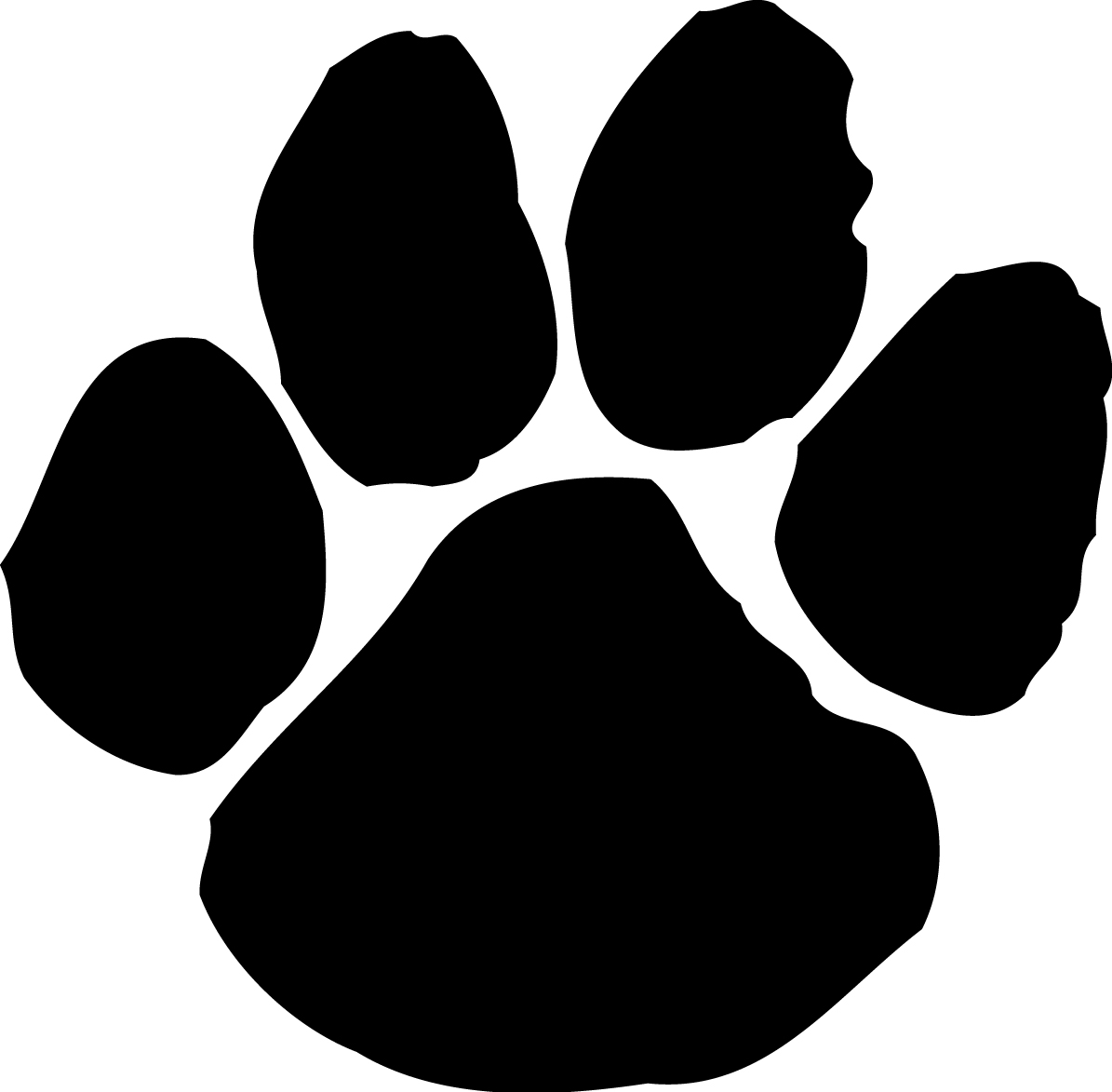 3031 Paw Print free clipart.