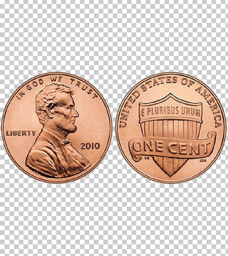 Lincoln Cent Penny Coin United States Of America PNG.