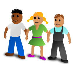 3 People Holding Hands Clipart.