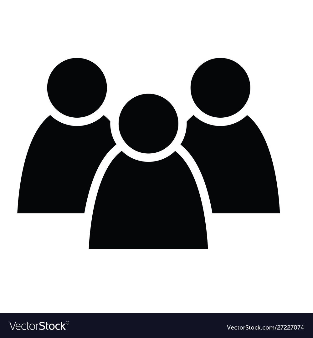 3 people icon group persons simplified human.