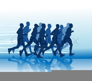 Free Running Man Clipart.