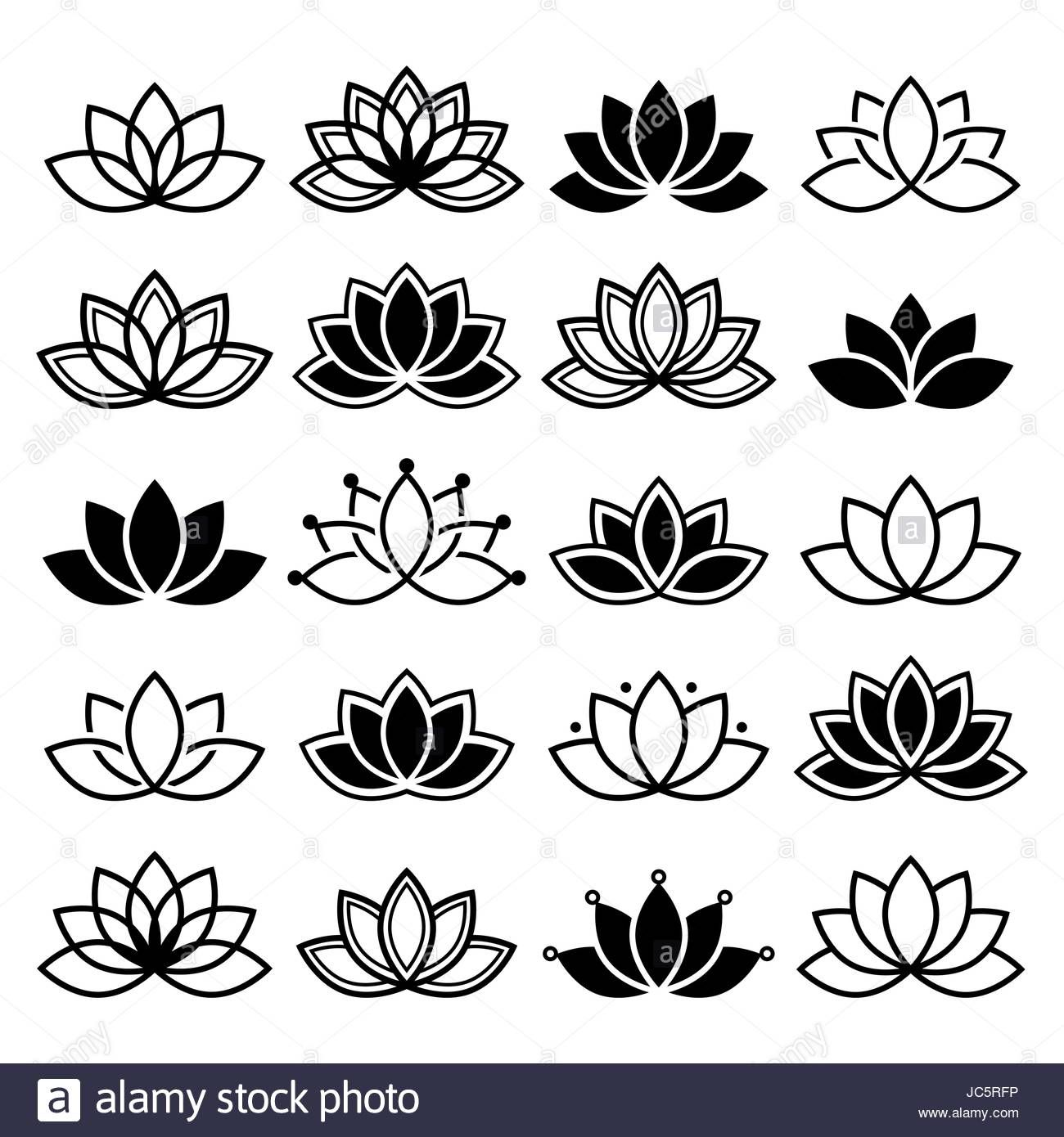 3 petals lotus flower clipart.