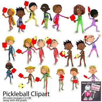 Pickleball Sport Clip Art for PE.