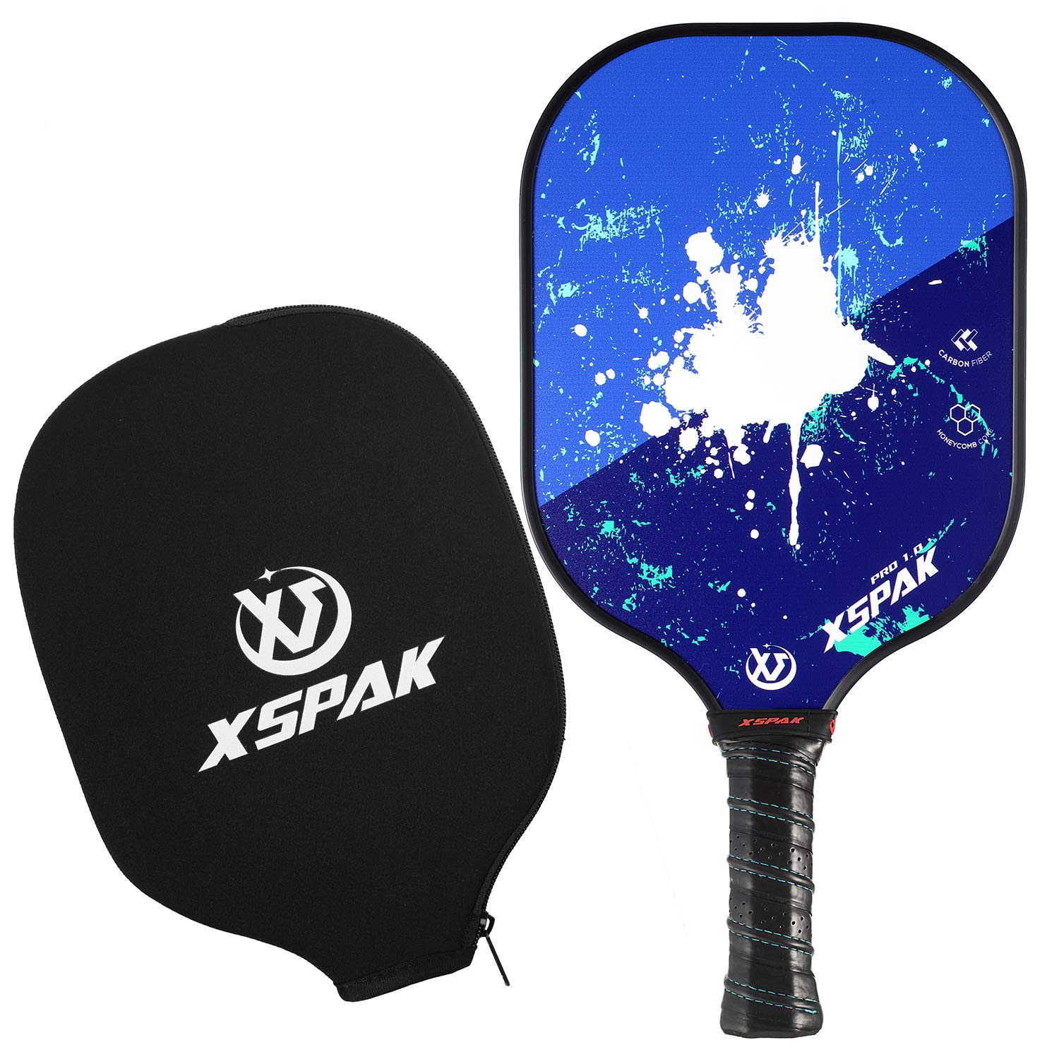 XS XSPAK Graphite Pickleball Paddle Set, Lightweight Graphite Honeycomb  Composite Core Paddles Single Wrap or Sets of 2, USAPA Approved.