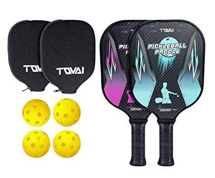 TQVAI Graphite Pickleball Paddles Set.
