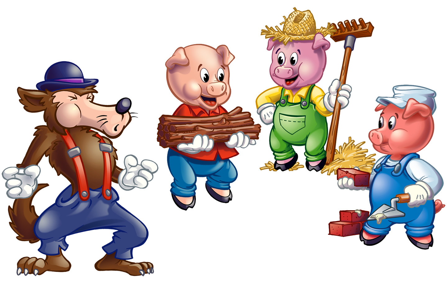 Images Three Little Pigs Clipart.
