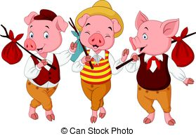 1737 Pigs free clipart.
