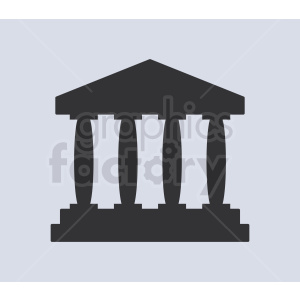 museum pillars vector icon clipart. Royalty.