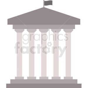 government building vector icon clipart. Royalty.