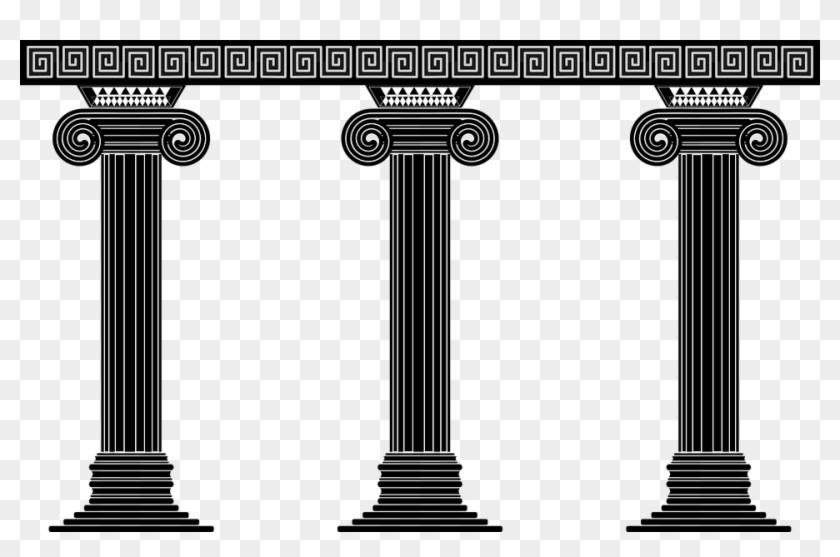 Greece clipart greek pillar, Greece greek pillar Transparent.