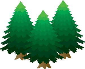 Pine tree silhouettes clip art at vector 3.