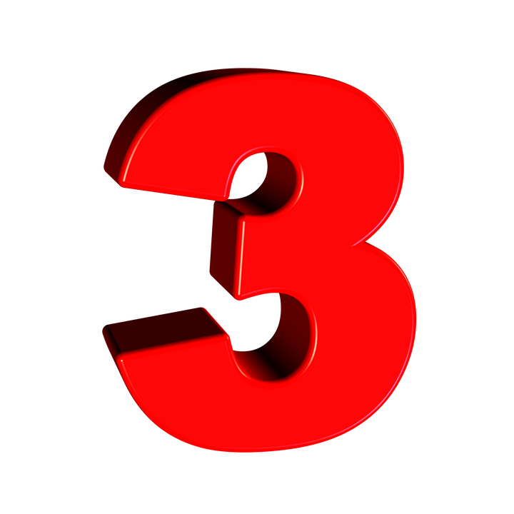 Number 3 PNG Photo.