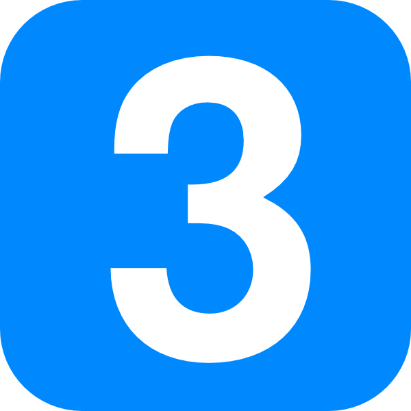 Number 3 PNG Transparent Image Icon #10.