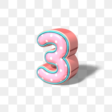 Number 3 PNG Images.
