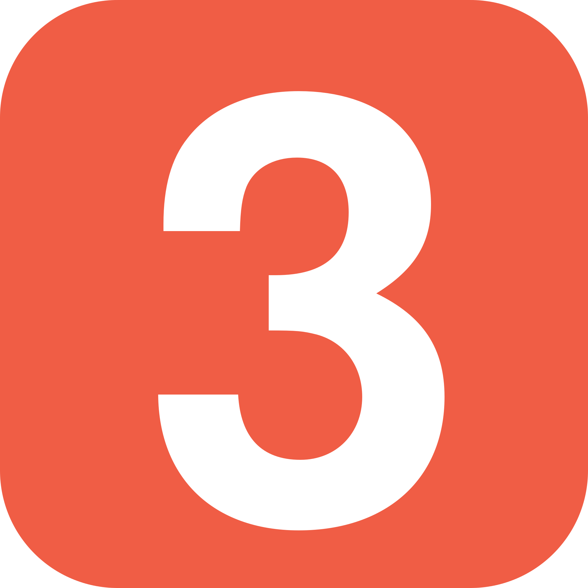 Number 3 PNG Transparent Image Icon #8.