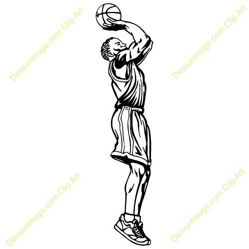 Basketball Jump Shot Clipart.