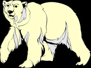 Polar Bear Walking Clip Art at Clker.com.