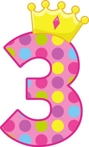 Pink Number 3 Clipart.