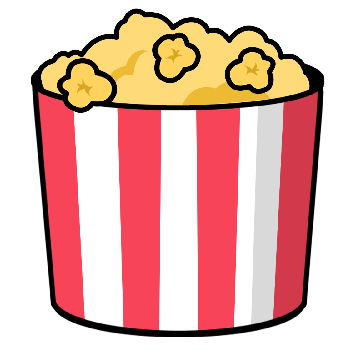 Popcorn free to use clipart 3.