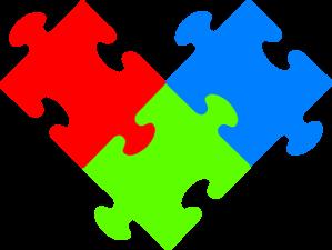 3 Puzzple Pieces Clip Art at Clker.com.