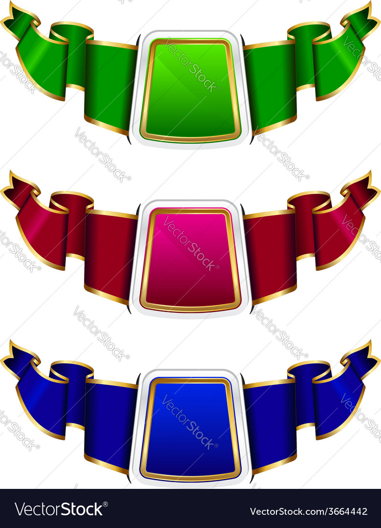 Collection frame with ribbon in 3 color.