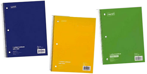 Three Ring Notebook.