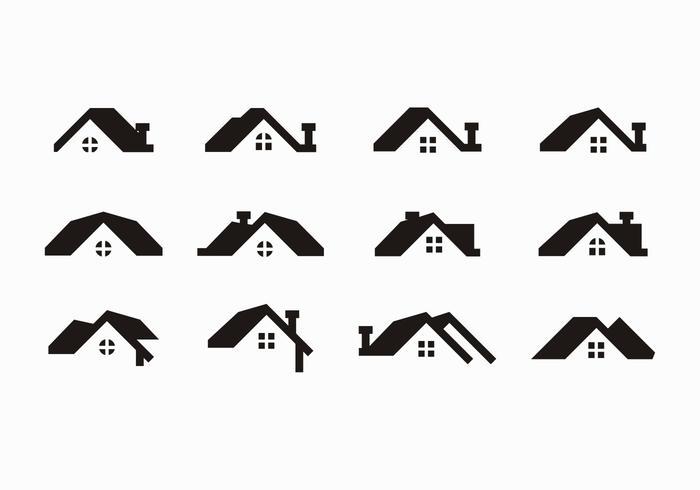 Free Black Rooftops Vector.