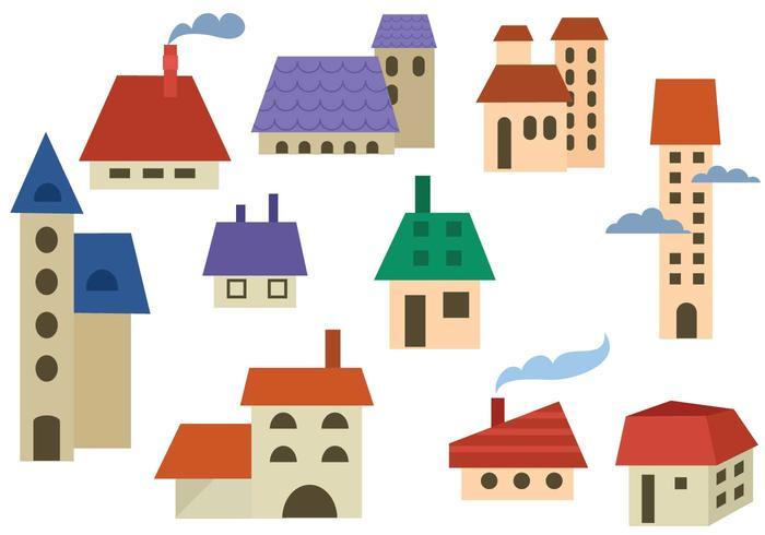 Free Buildings Vectors.