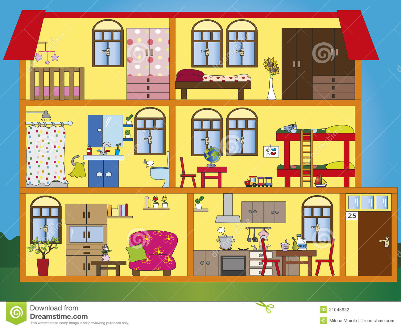 Inside My House Clipart.