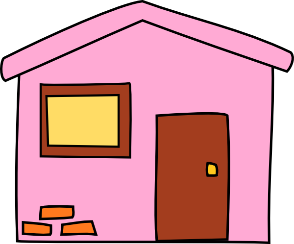 Pink House 3 Clip Art at Clker.com.