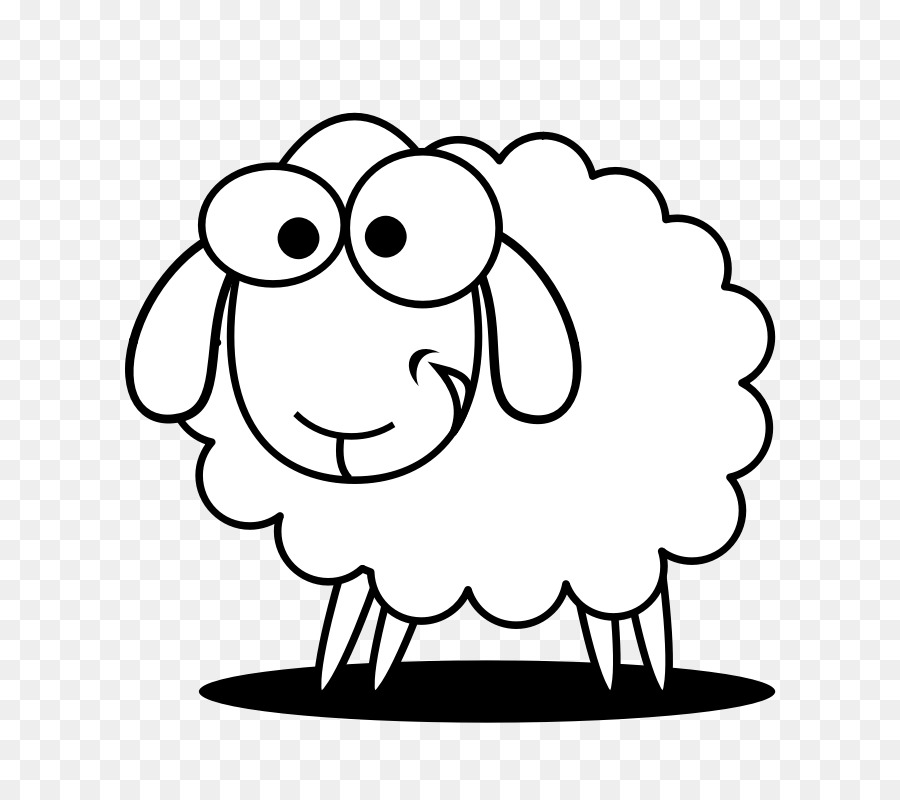 Sheep clipart black and white 3 » Clipart Station.