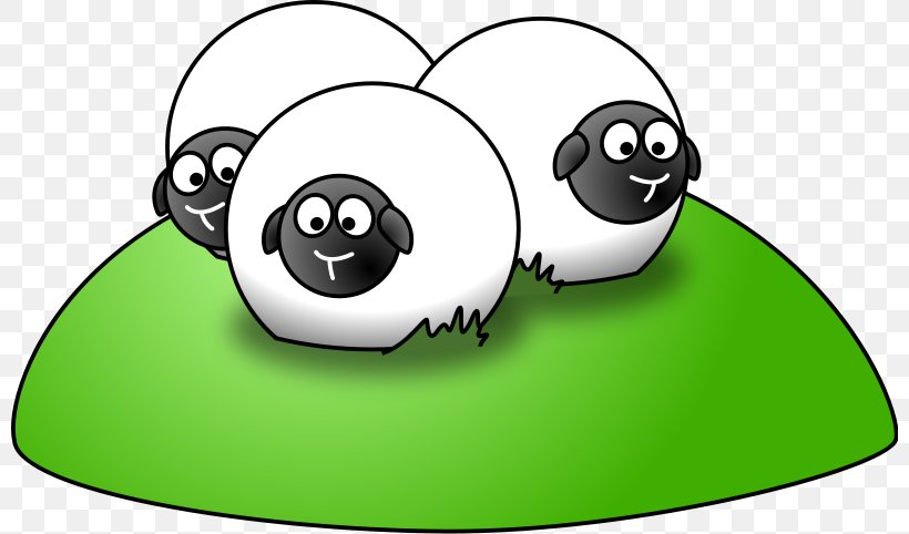 Sheep Cartoon Clip Art, PNG, 800x482px, Sheep, Area, Art.