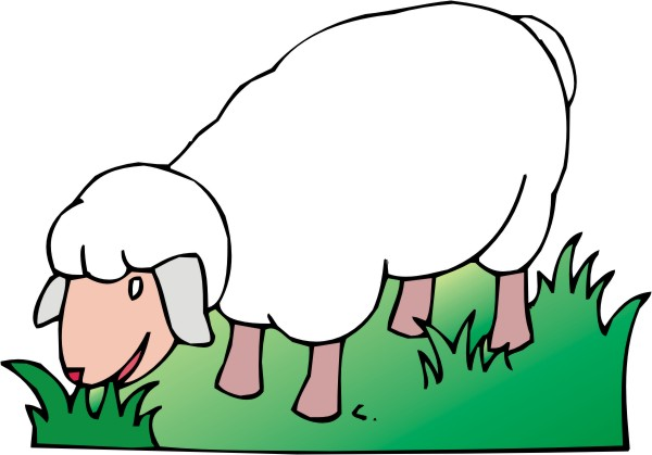 Sheep clipart 3.