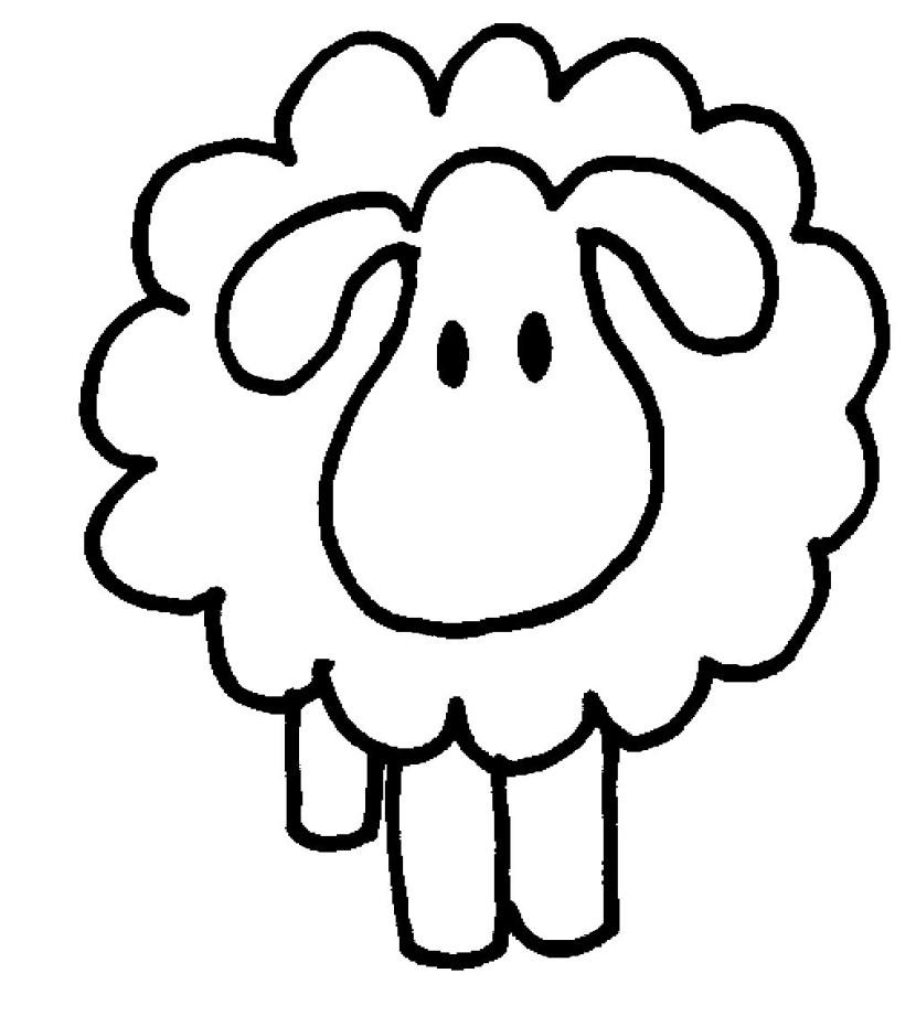 Sheep clipart 3.