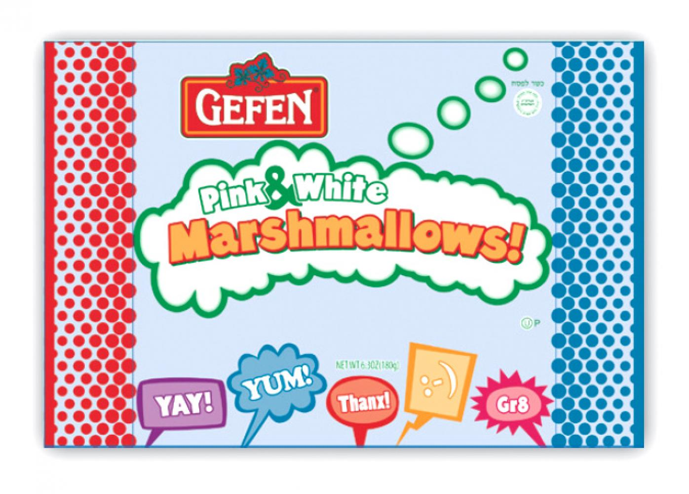 Gefen Pink & White Marshmallows 6.3 oz.
