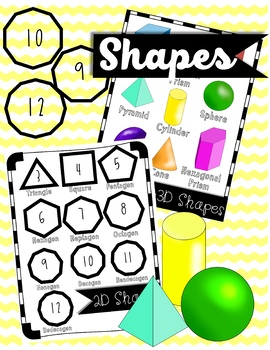Shapes Clipart 2D and 3D.