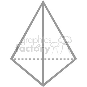 geometry 3 sided pyramid math clip art graphics images clipart.  Royalty.