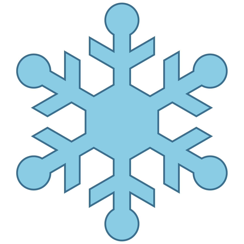 Simple Blue Snowflake Clipart.
