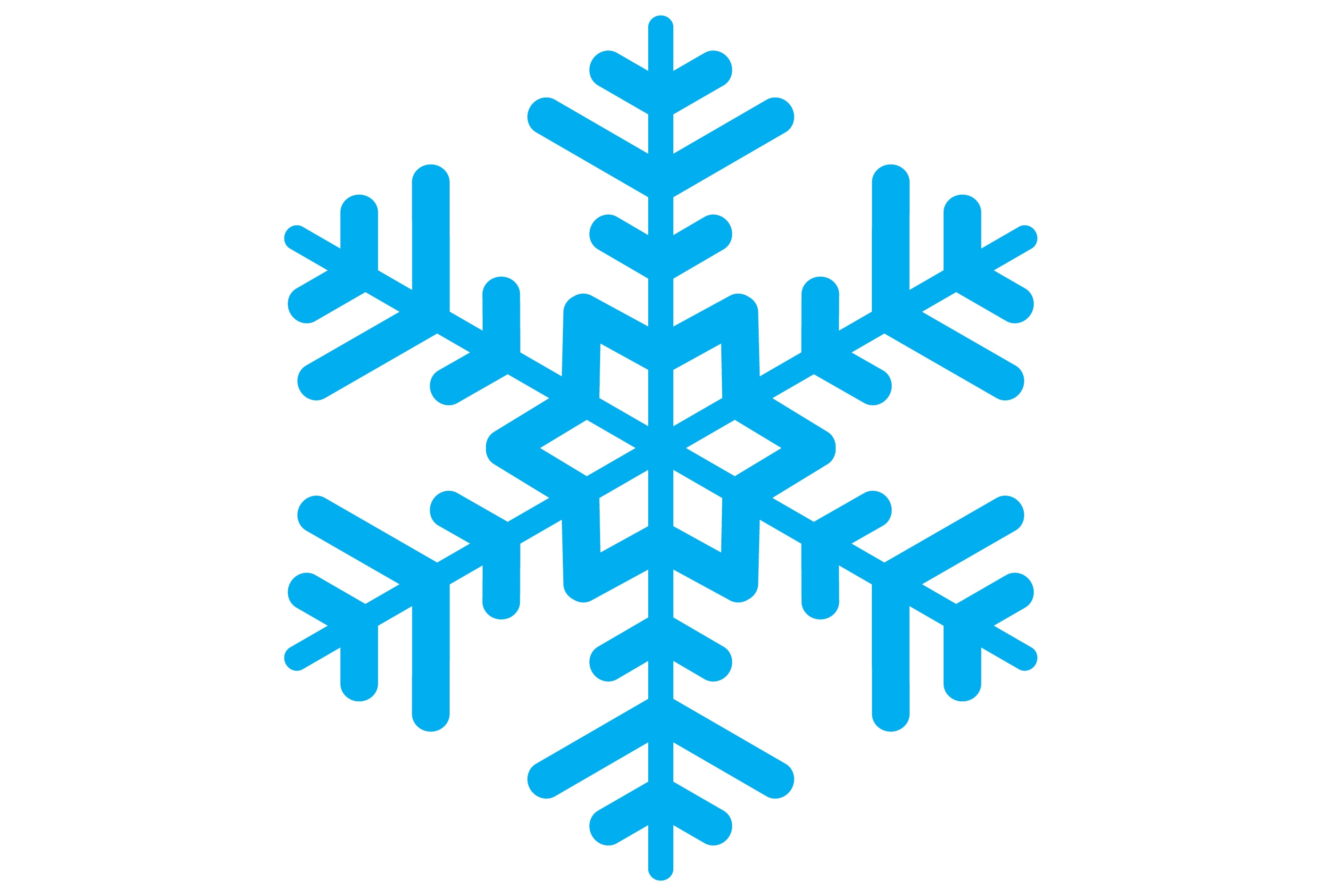 5064 Snowflake free clipart.