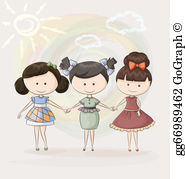 Three Sisters Clip Art.