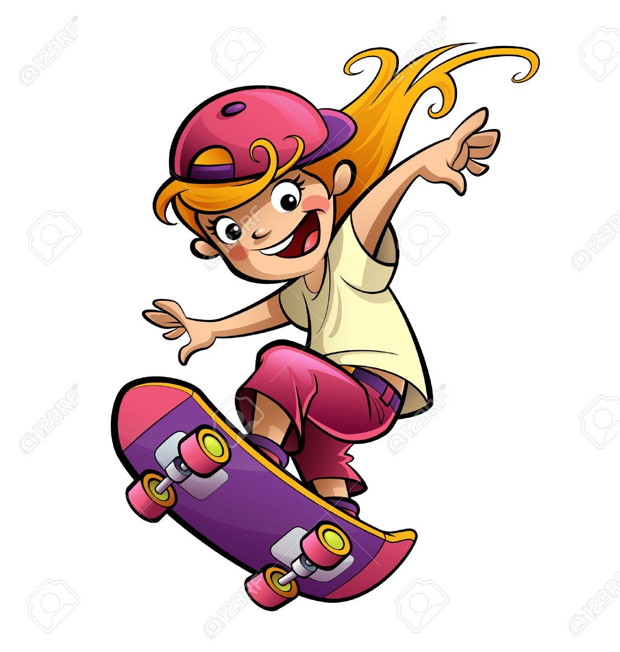 551 Skateboard free clipart.