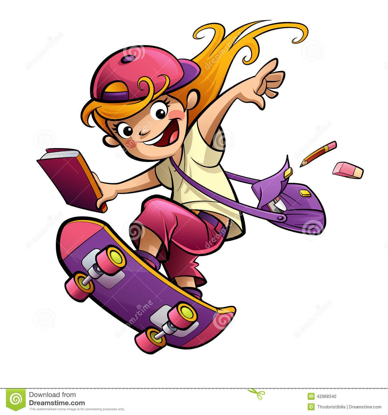 549 Skateboard free clipart.