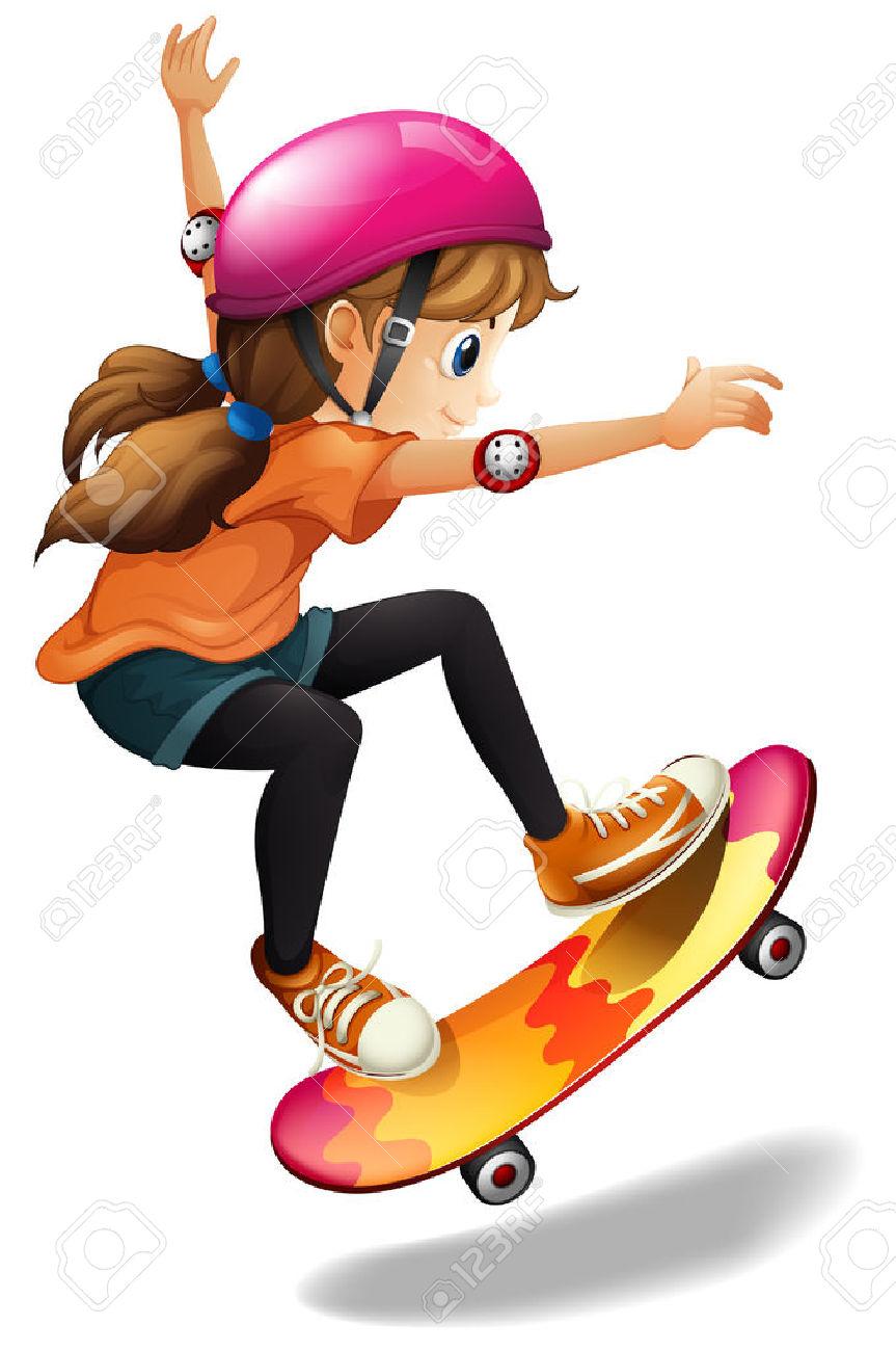 550 Skateboard free clipart.