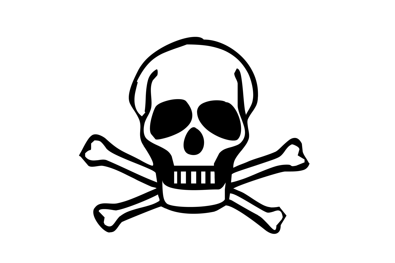 Skull clip art vector free 3.