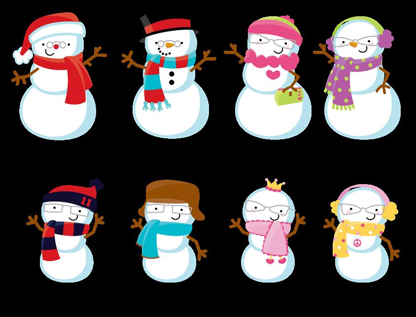 snowman family clipart #349.