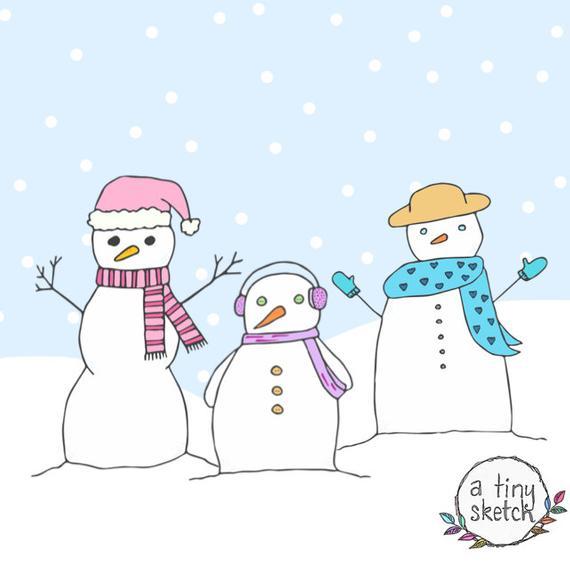 Items similar to snowman clipart • 3 high.