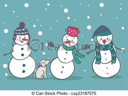 Set of 3 snowman, part1.