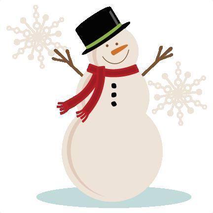 Snowman clipart 3.