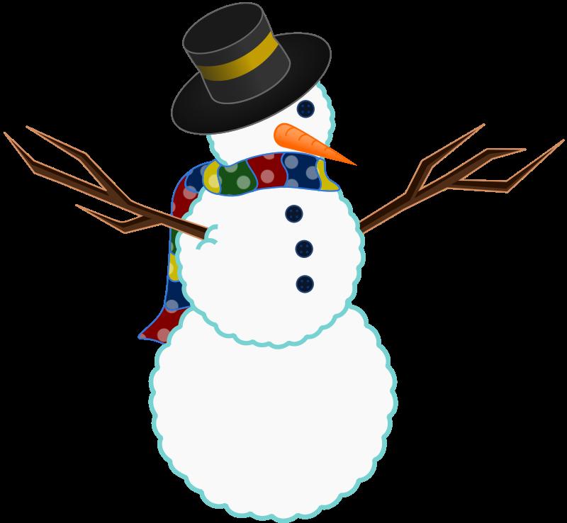 Christmas snowman clipart 3.