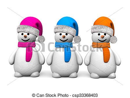 3 Snowmen.